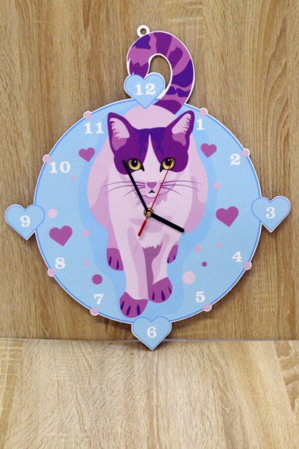 """Zegar dziecięcy """"Kot Love"""""""