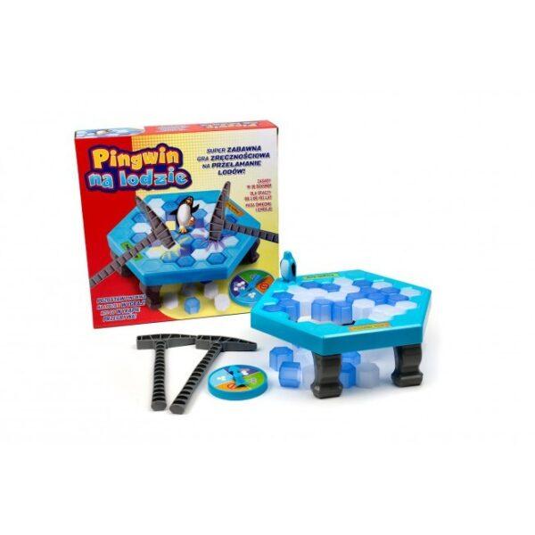 Pingwin na lodzie (gra planszowa dla najmłodszych)